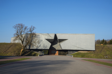 obelisk stone: BREST, BELARUS - MARCH 24, 2016:  War memorial complex Brest Hero-Fortress