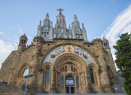 BARCELONA, CATALONIA, SPAIN - OCTOBER 02, 2016: Church of the Sacred heart of Jesus in Barcelona in Spain