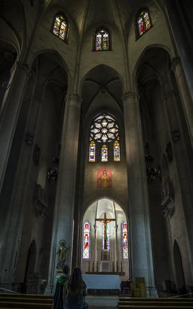 BARCELONA, CATALONIA, SPAIN - OCTOBER 02, 2016: Church of the Sacred heart of Jesus in Barcelona, Spain