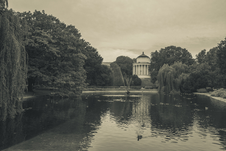 Water Tower, in the northwest part of the Saxon Garden (Warsaw, Poland), is situated by the ornamental lake surrounded by willows. Designed in 1852 by the architect Henryk Marconi
