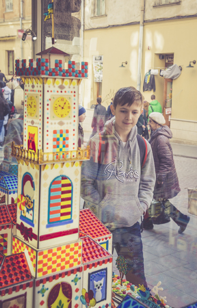 LVIV, UKRAINE - MARCH 28, 2017: Lviv Workshop of Caramel. Sweet kingdom