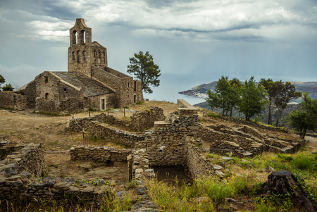 Santa Creu de Rodes town and church, Spain