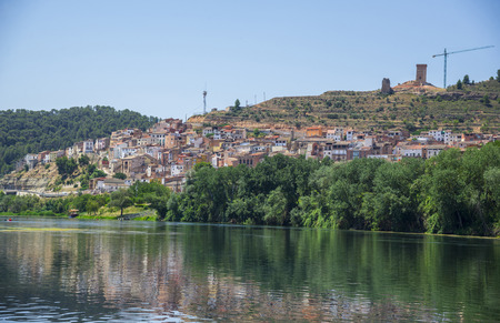 The village of Asco on the Ebro river in South Catalonia, Spain