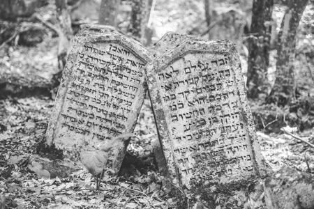 Karaite cemetery in Crimea. Tombstones Editorial