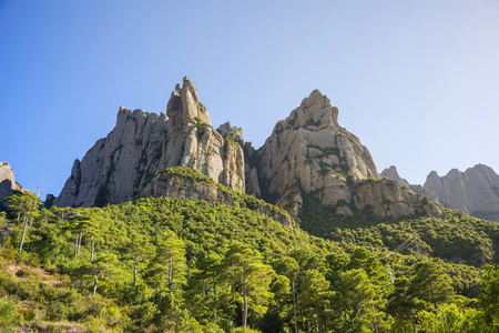 The Mountain of Montserrat, Catalonia, Spain