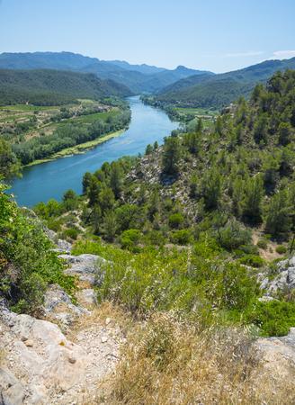 ebro: The Ebro river, Miravet, Spain Stock Photo