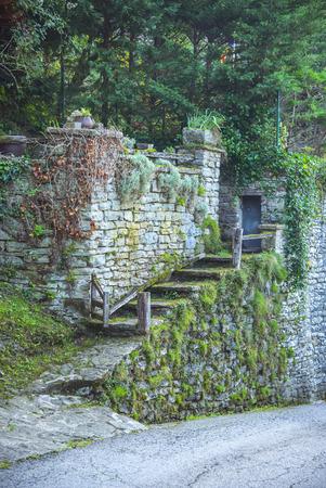 Rupit i Pruit - Medieval Catalan village Stock Photo