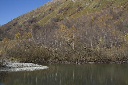 Mountain lake Kardyvach, Caucasus Stock Photo