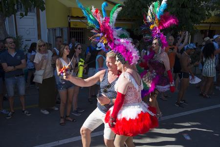 SITGES, CATALONIA  SPAIN - JUNE 11, 2017: Gay Pride Sitges 2017 Editorial
