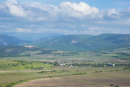 Crimean peninsula in the spring. View from the Mount Sapun