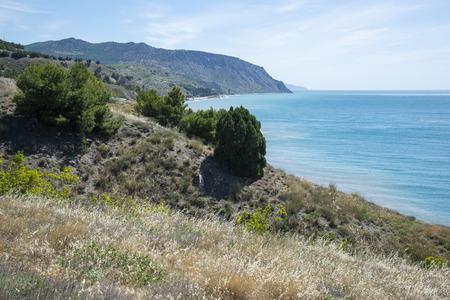 Beautiful summer landscape on the Black Sea, Crimea