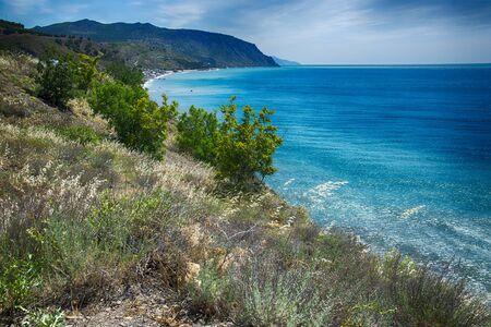 Coast of the Black Sea in Novy Svet, Crimea