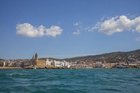 Beautiful scenic view on Sitges city. Catalonia, Spain Reklamní fotografie