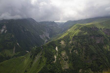 Mountain landscape view, summer time. Caucasus, Georgia