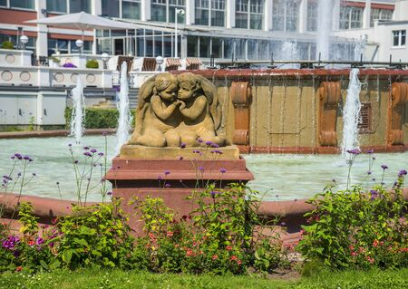 Beautiful fountain in Sopot, Eastern Pomerania in northern Poland