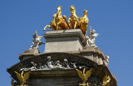 Fountain at Parc de la Ciutadella, detail. Citadel park, Barcelona Imagens