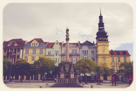 OSTRAVA / CZECH REPUBLIC - SEPTEMBER 29, 2019: View of central square of Ostrava city - Masaryk Square