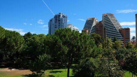 Summer landscape in Valencia city, Spain