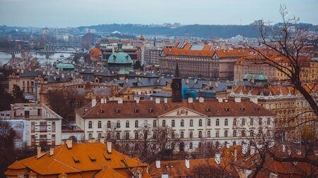 Beautiful view on the Prague city, Czech Republic
