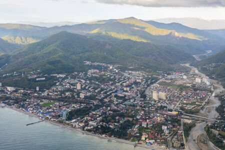 View of Lazarevskoye from a Black sea Stok Fotoğraf