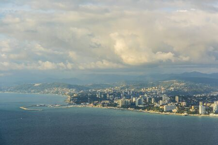 View of the city of Sochi from the Black sea