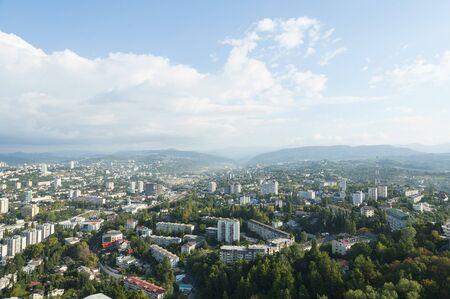 Aerail view of Sochi city, Russia