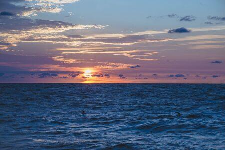Sunrise on the Black Sea in Odessa Archivio Fotografico