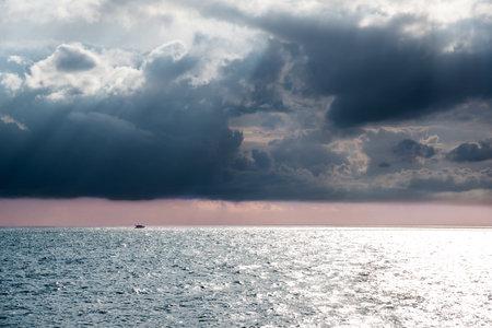 Seascape with a ship on the horizon, Black sea
