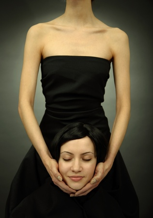 Phantom of beautiful elegant woman