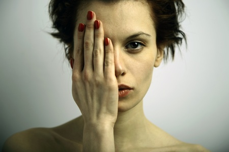 Elegante young emotional woman  Stock Photo - 9969998