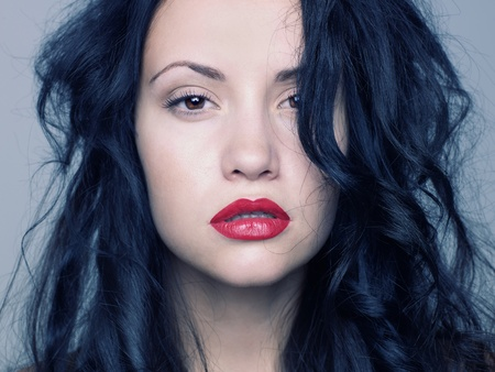 Photo of young beautiful woman with red lipstick Stock Photo - 10117879