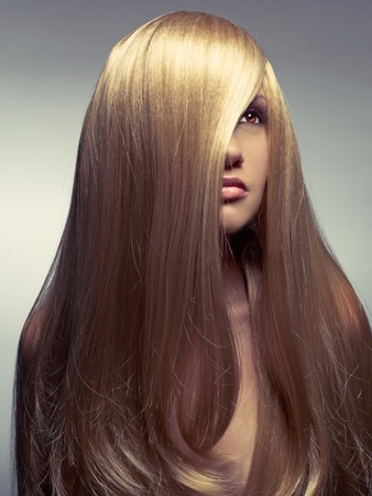 Photo of young beautiful woman with magnificent hair Stock Photo - 12590374