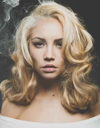 magnificent: Photo of beautiful woman with magnificent blond hair