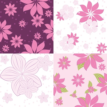 multiplying: seamless pattern of flowers