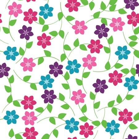 Seamless floral pattern Stock Vector - 12854893