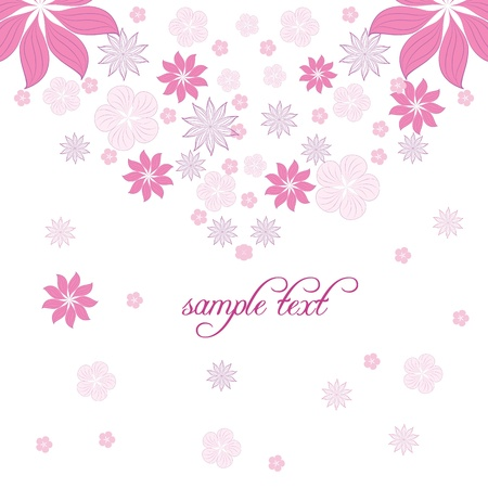 backdrop: vector floral background