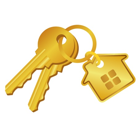 house illustration: house keys