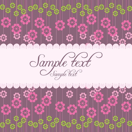 multiplying: vector card with flowers