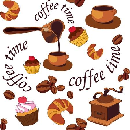 coffee grinder: coffee time Illustration