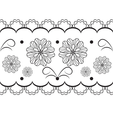fine lines: vector lace Illustration