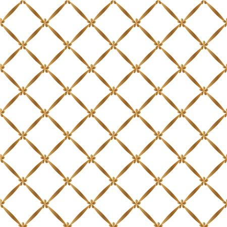 rhombus: Gold seamless pattern