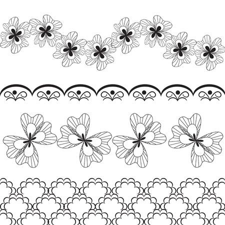 lace: elementos del vector de encaje