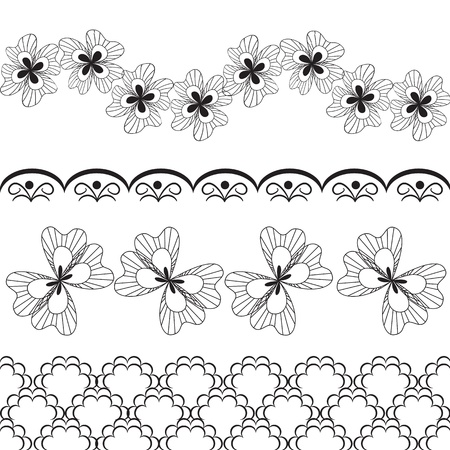 lace vector: vector lace items