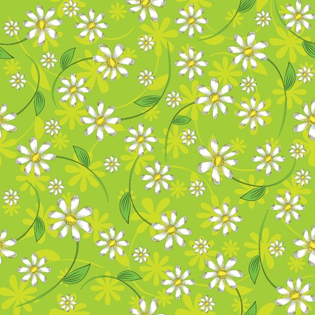 multiplying: seamless pattern of daisies