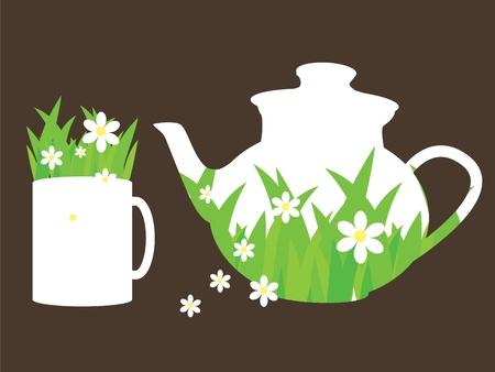 chamomile tea: tea time Illustration