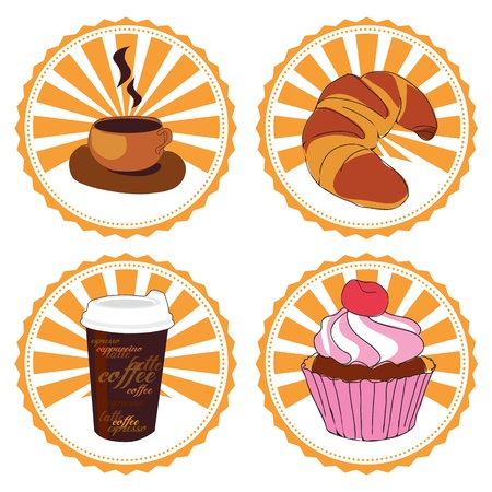 coffee and cake Stock Vector - 12854962