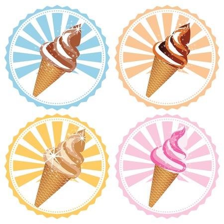 cream paper: label ice cream