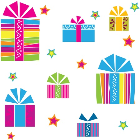 multiplying: seamless pattern of gifts Illustration