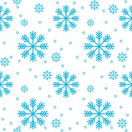 multiplying: Seamless background of snowflakes