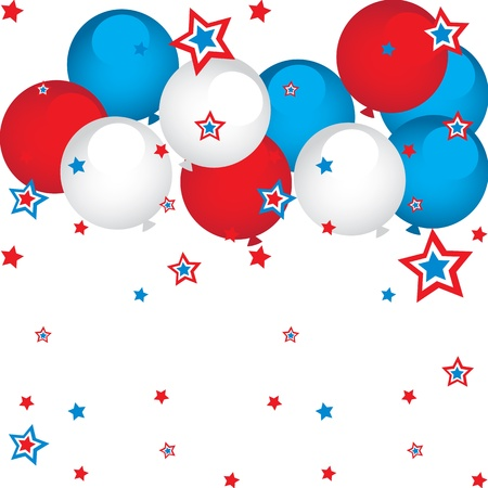 red balloons: stars and balloons
